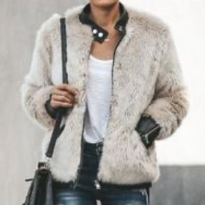 New with tags faux fur jacket!